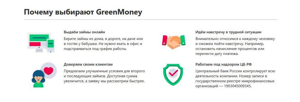 Преимущества GreenMoney