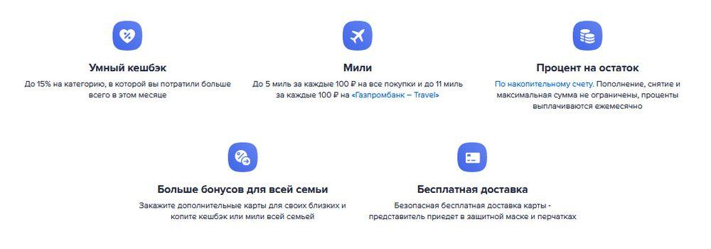 Преимущества Умной дебетовой карты Газпромбанка
