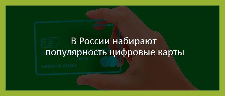 В России набирают популярность цифровые карты